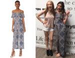 Lea Michele's L'Agence Nicolle Ruffle Jumpsuit