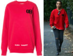 Louise Redknapp's Off-White Sweater