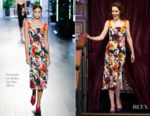 Michelle Dockery In Cushnie et Ochs - The Late Late Show with James Corden