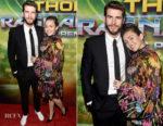Miley Cyrus In Maria Escote - 'Thor: Ragnarok' LA Premiere