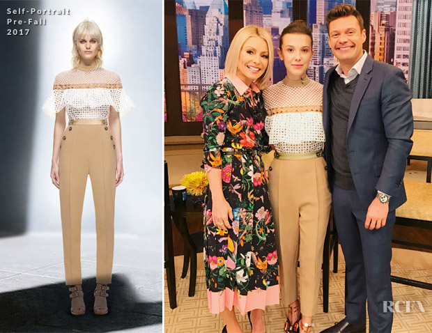 3750912dc99a Millie Bobby Brown continued to promote the new season of  Stranger Things   by visiting  Live with Kelly   Ryan  on Monday (October 30).