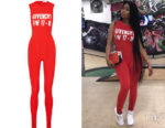 Nicki Minaj's Givenchy Printed Jumpsuit
