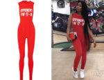 Nicki Minaj's Givenchy Printed Jumpsuit