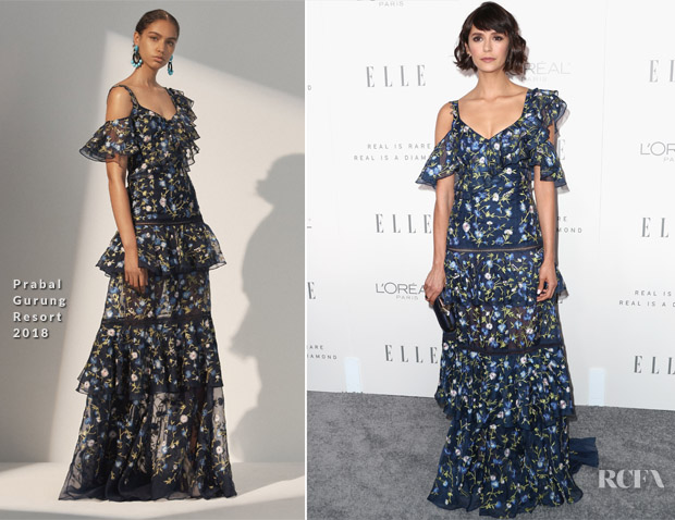 Nina Dobrev In Prabal Gurung - ELLE's 24th Annual Women in Hollywood Celebration