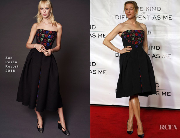 Renee Zellweger In Zac Posen - Same Kind Of Different As Me' Mississippi Premiere