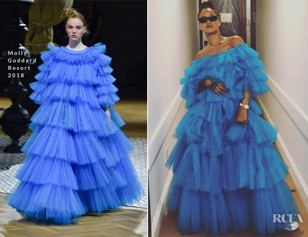 Rihanna is instaglam in molly goddard red carpet fashion awards rihanna is instaglam in molly goddard voltagebd Gallery