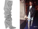 Rihanna's Saint Laurent Niki Swarovski Crystal-Embellished Boots