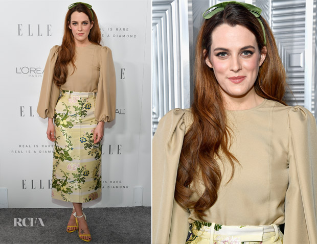 Riley Keough In Calvin Klein 205W39NYC – ELLE's 24th Annual Women in Hollywood Celebration