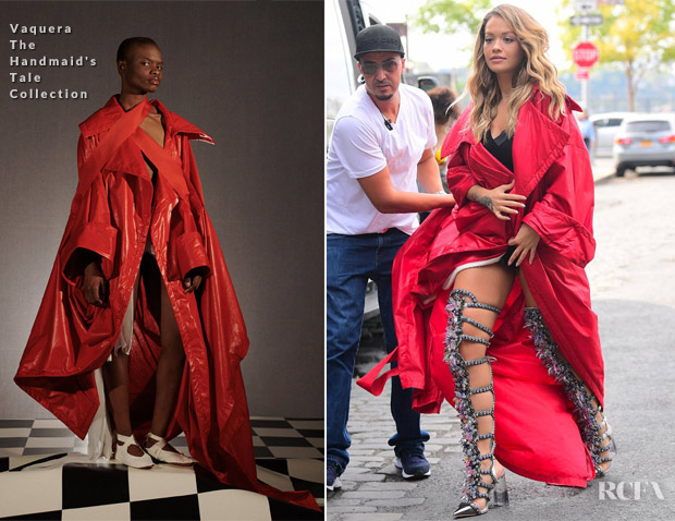 402b845caff All The Looks From Rita Ora s  Anywhere  Music Video Shoot - Red ...