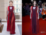 Ruth Wilson In Schiaparelli Couture - 'Dark River' London Film Festival Premiere