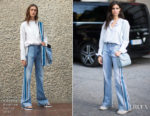 Sara Sampaio In Victoria, Victoria Beckham - Paris Sighting