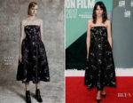 Stacy Martin In Erdem - 'Redoubtable' London Film Festival Premiere