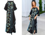Thandie Newton's Peter Pilotto Cold-Shoulder Embroidered Gown