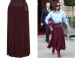Victoria Beckham's Victoria Beckham Paneled Pleated Skirt