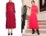 Victoria Beckham's Victoria Beckham Ruffle Midi Dress