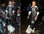 Adwoa Aboah In Simone Rocha - British Vogue's December Issue Dinner Party