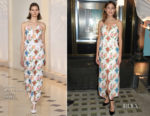 Alexa Chung In Emilia Wickstead - Tiffany & Co. Christmas Windows Unveiling