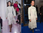 Alicia Vikander In Chloe - British Vogue's December Issue Dinner Party
