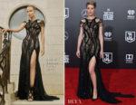 Amber Heard In Atelier Versace - 'Justice League' LA Premiere