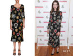 Anne Hathaway's Dolce & Gabbana Heart-Print Midi Dress
