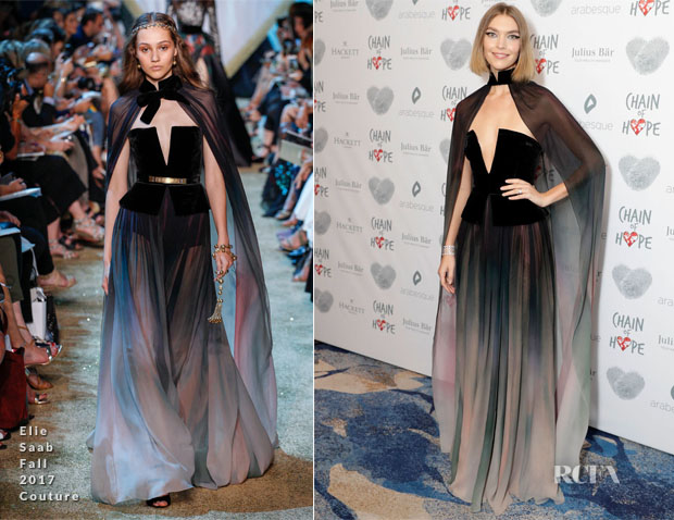 Arizona Muse In Elie Saab & Ralph & Russo Couture - Chain Of Hope Gala Ball & Aquazzura x Mytheresa.com Dinner