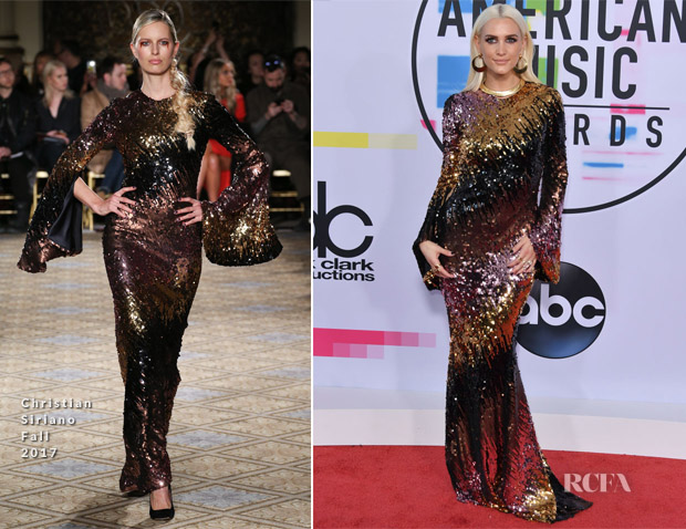Ashlee Simpson Ross In Christian Siriano - 2017 American Music Awards