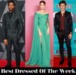 Best Dressed Of The Week - Lily Aldridge in J. Mendel, Chadwick Boseman in Bottega Veneta & Shawn Mendes in The Kooples