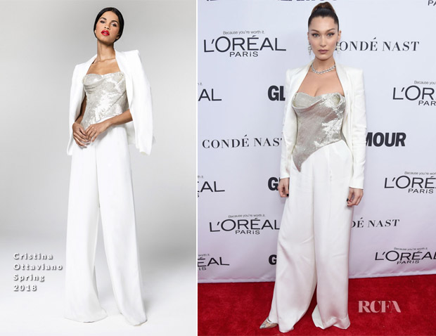 bf5e3ee79556 Bella Hadid In Cristina Ottaviano – 2017 Glamour Women Of The Year Awards