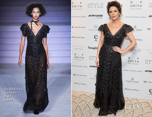 Catherine Zeta Jones In Temperley London - British Luxury Awards