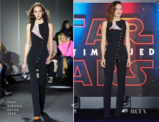 Daisy Ridley In Paco Rabanne - 'Star Wars: The Last Jedi' Mexico City Premiere