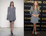 Elizabeth Olsen In Dion Lee -  Deadline's The Contenders