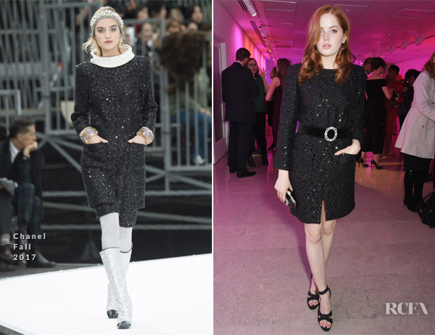 ea19c8fb41e5 Ellie Bamber In Chanel –  The Lady From The Sea  Press Night After Party