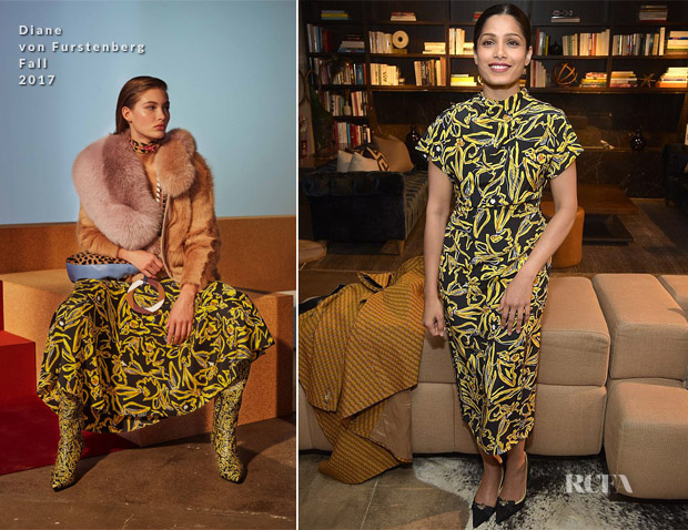 Freida Pinto In Diane von Furstenberg - 'Ladies First' New York Screening