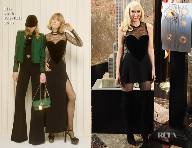 Gwen Stefani In Elie Saab & Celia Kritharioti Couture - Lights The Empire State Building & The Today Show