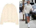 Hailey Baldwin's IRO Nijyn Cable-Knit Sweater