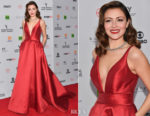 Italia Ricci In Mac Duggal - 45th International Emmy Awards