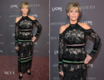 Jane Fonda In Elie Saab - 2017 LACMA Art + Film Gala