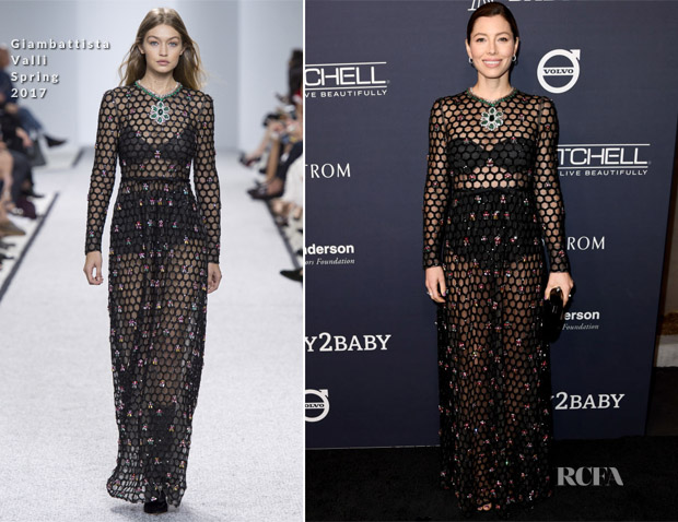 5235469b1 Jessica Biel attended the 2017 Baby2Baby Gala on Saturday (November 11) in  Los Angeles, California. I was kinda shocked to see her wearing this  Giambattista ...