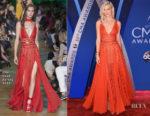 Karlie Kloss In Elie Saab - 2017 CMA Awards