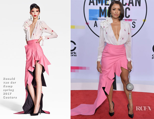 Kat Graham In Ronald van der Kemp Couture & Alexandre Vauthier - 2017 American Music Awards