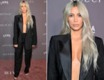 Kim Kardashian West In Tom Ford for Gucci - 2017 LACMA Art + Film Gala