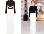Kristen Bell's Michael Kors Collection Cutout Crepe Gown
