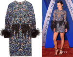 Lea Michele's Zuhair Murad Feather-Trimmed Dress