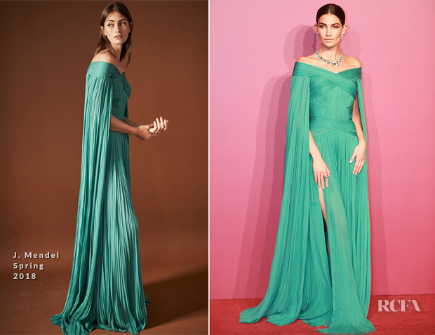 Lily Aldridge In J. Mendel - Bvlgari Festa High Jewelry Event