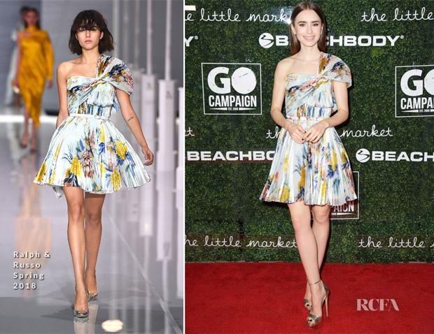 Lily Collins In Ralph & Russo - 2017 GO Campaign Gala