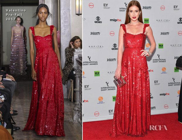 Marina Ruy Barbosa In Valentino - 45th International Emmy Awards