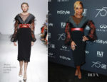 Mary J Blige In Bibhu Mohapatra - HFPA and Instyle Celebration of the 2018 Golden Globe Awards