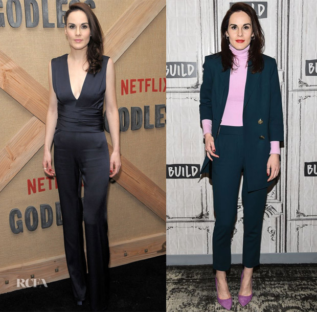Michelle Dockery In Galvan & Osman - 'Godless' New York Premiere & Build Series