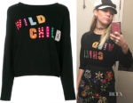 Miley Cyrus' Alice + Olivia Bao Wild Child Sweater