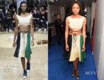 Naomie Harris In J.W. Anderson - British Vogue's December Issue Dinner Party